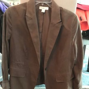 Coldwater Creek Brown Casual Jacket.
